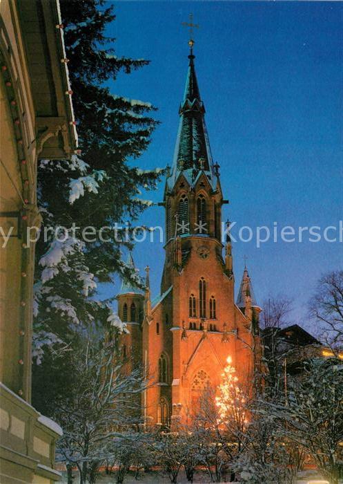 AK / Ansichtskarte Bad_Wildbad St Bonifatiuskirche zur Weihnachtszeit Christbaum Bad_Wildbad