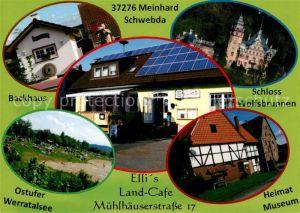 AK / Ansichtskarte Meinhard Schloss Wolfsbrunnen Ellis Land Cafe Backhaus Meinhard