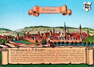 AK / Ansichtskarte Creglingen Nach einem Stich von Merian Chronik Kuenstlerkarte Creglingen