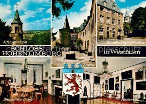 AK / Ansichtskarte Hohenlimburg Schloss Alter Wehrturm Schlosshof Heimatmuseum Bergfried Biedermeierzimmer Fuerstensaal Wappen Hohenlimburg