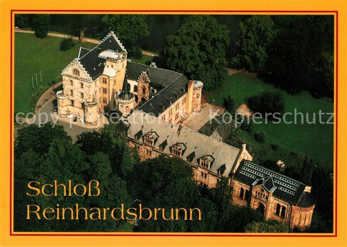 AK / Ansichtskarte Reinhardsbrunn Schloss Fliegeraufnahme Reinhardsbrunn