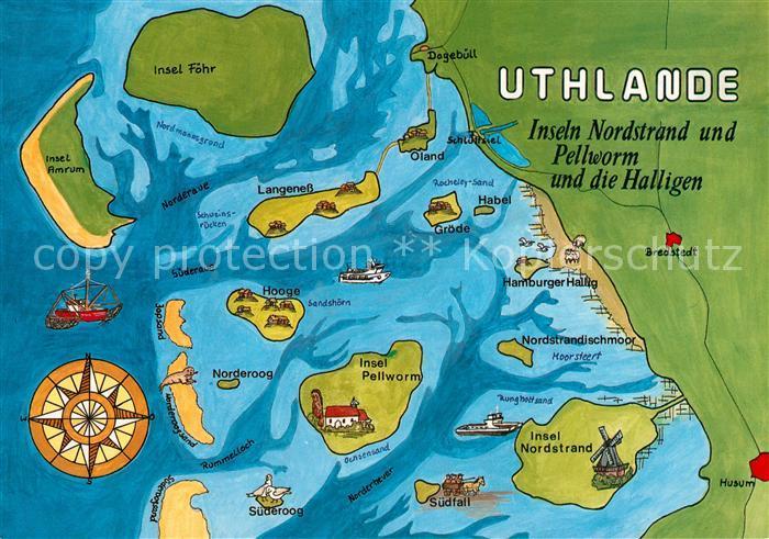 Ak Ansichtskarte Pellworm Nordseeinseln Pellworm Nordstrand Und