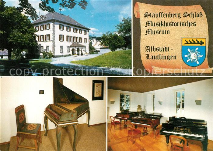AK / Ansichtskarte Lautlingen Stauffenberg Schloss Musikhistorisches Museum Wappen Lautlingen