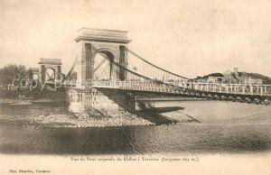 AK / Ansichtskarte Tarascon_Bouches du Rhone Rue du Pont suspendu du Rhone Tarascon Bouches du Rhone