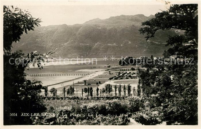 AK / Ansichtskarte Aix les Bains La Plage Le Lac Aix les Bains