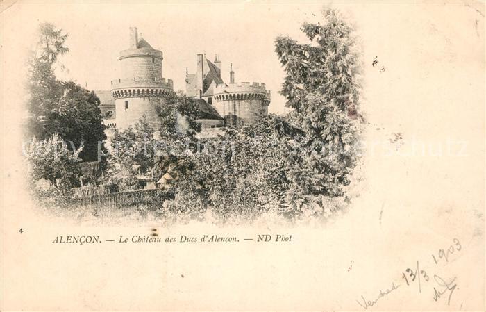 AK / Ansichtskarte Alencon Le Chateau des Dues d Alencon Alencon