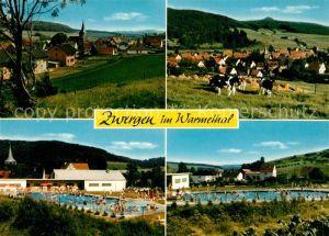 AK / Ansichtskarte Zwergen Panorama Beheiztes Schwimmbad Zwergen