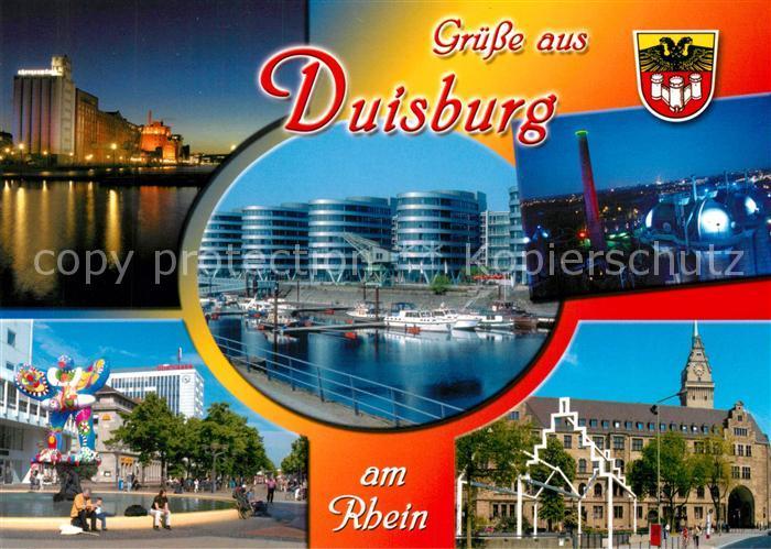 Ak Ansichtskarte Duisburgruhr Innenhafen Innenstadt Lebensretter