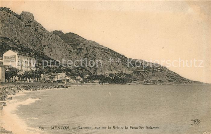AK / Ansichtskarte Menton_Alpes_Maritimes Garavan Vue sur la Baie et la Frontiere italienne Menton_Alpes_Maritimes