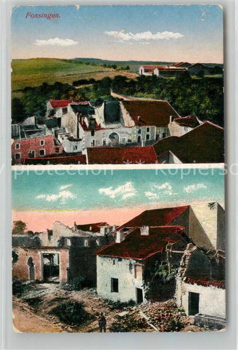 AK / Ansichtskarte Fossingen Teilansichten Truemmer 1. Weltkrieg Fossingen
