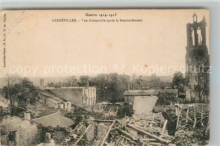 AK / Ansichtskarte Gerbeviller Apres le bombardement Grande Guerre 1914 1915 Truemmer 1. Weltkrieg Gerbeviller