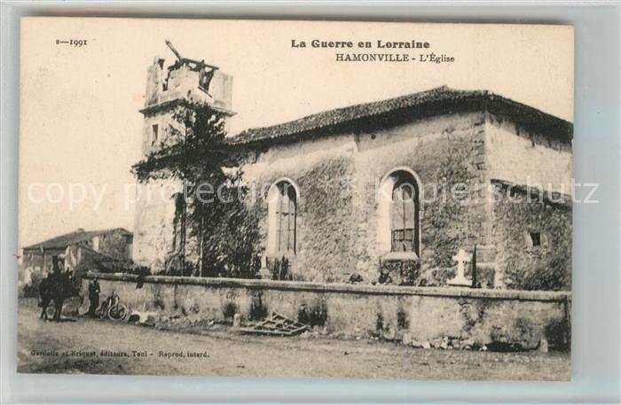 AK / Ansichtskarte Hamonville Eglise La Guerre en Lorraine Truemmer 1. Weltkrieg Hamonville