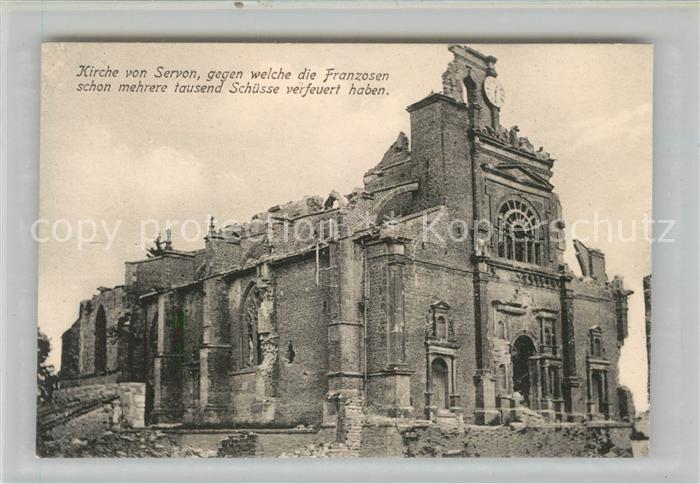 AK / Ansichtskarte Servon_Seine et Marne Kirche Truemmer 1. Weltkrieg Servon Seine et Marne