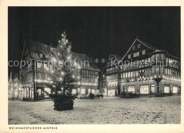 AK / Ansichtskarte Alsfeld Weihnachtsbeleuchtung  Alsfeld
