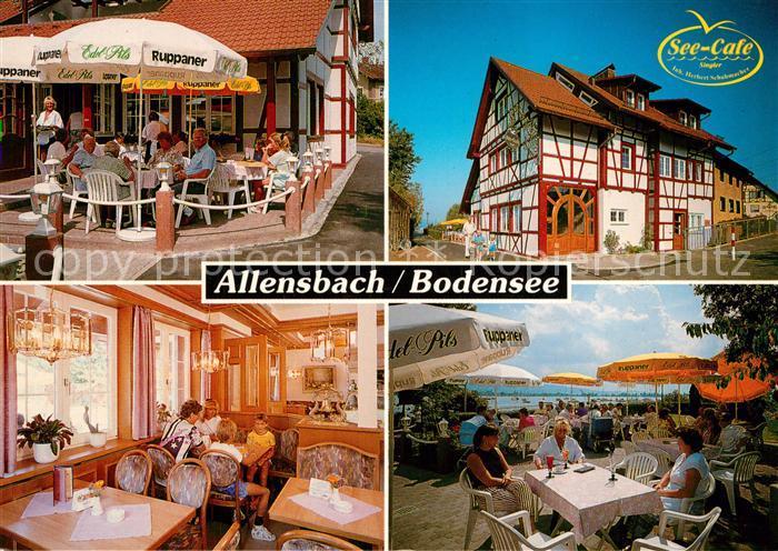 AK / Ansichtskarte Allensbach_Bodensee See Cafe Schneider Allensbach_Bodensee 0