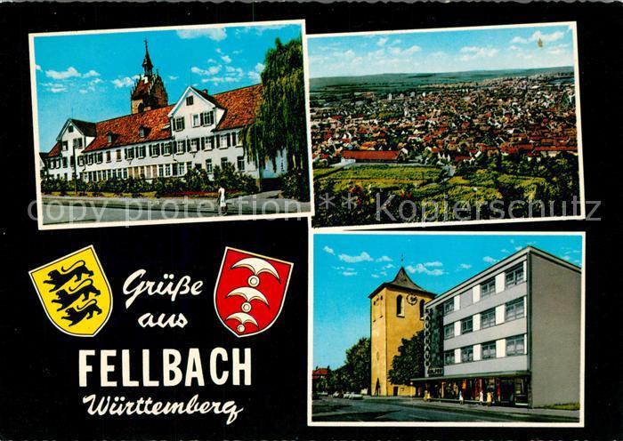 AK / Ansichtskarte Fellbach Panorama Stadtansichten Fellbach