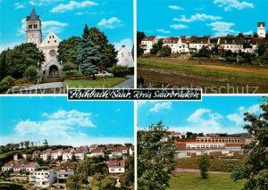 AK / Ansichtskarte Fischbach Camphausen Kirche Panoramen Fischbach Camphausen