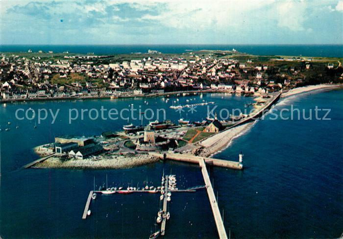 AK / Ansichtskarte Camaret sur Mer Fliegeraufnahme Port Sillon Camaret sur Mer