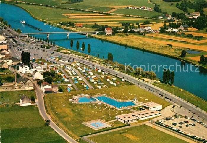 AK / Ansichtskarte Remich Fliegeraufnahme Grand Duche de Luxembourg Remich