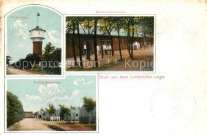 AK / Ansichtskarte Lockstedt Lager Lockstedt Wasserturm Wellblechbaracken Mannschaftsbaracken Lockstedt