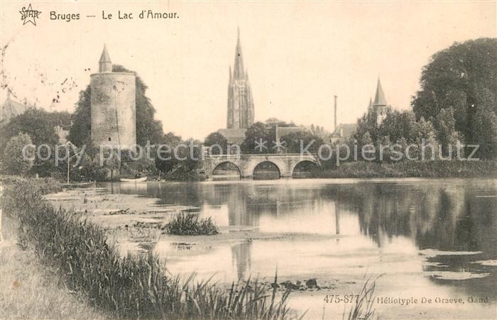 AK / Ansichtskarte Bruges_Flandre Le Lac d Amour Bruges_Flandre