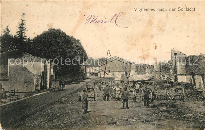 AK / Ansichtskarte Vigneulles nach der Schlacht Truemmer 1. Weltkrieg Vigneulles