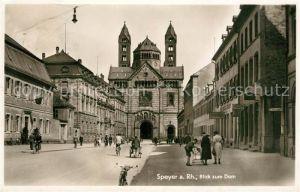 AK / Ansichtskarte Speyer_Rhein Blick zum Dom Speyer Rhein