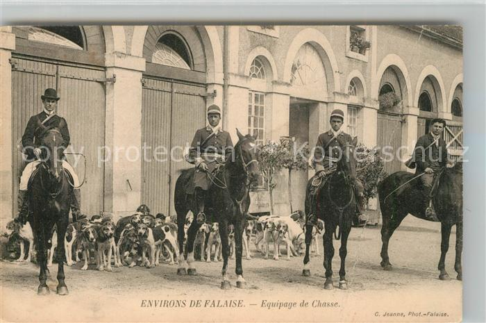 AK / Ansichtskarte Falaise_Calvados Equipage de Chasse Falaise_Calvados