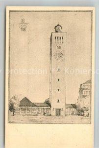 AK / Ansichtskarte Muenchen Aussichtsturm Leuchtturm Kuenstlerkarte Deutsche Verkehrsausstellung Karte III Muenchen