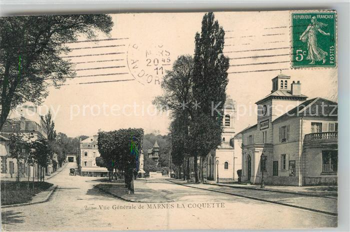 AK / Ansichtskarte Marnes la Coquette La Mairie Place Marnes la Coquette