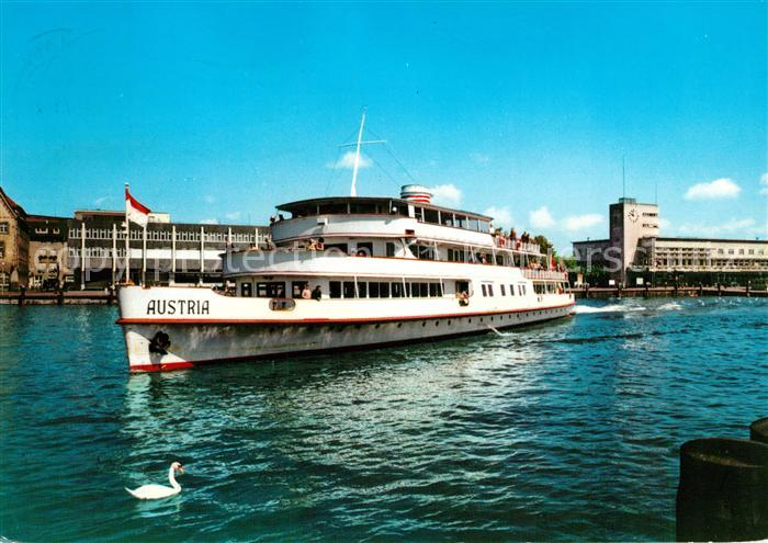 AK / Ansichtskarte Motorschiffe MS Austria Friedrichshafen Bodensee Hafen Motorschiffe