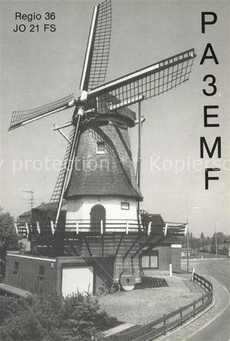AK / Ansichtskarte Windmuehle Holland Radio  Windmuehle