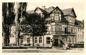 AK / Ansichtskarte Bad_Sooden Allendorf Gotisches Haus Hotel Schaefer Bad_Sooden Allendorf