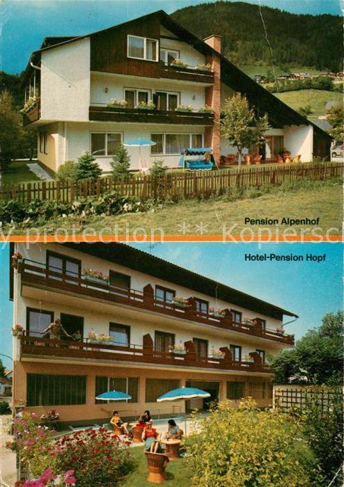 AK / Ansichtskarte Bad_Kleinkirchheim_Kaernten Pension Alpenhof Hotel Pension Hopf Bad_Kleinkirchheim