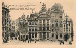 AK / Ansichtskarte Bruxelles_Bruessel Haeuser der Herzoge von Lothringen und des Fuersten von Oranien Bruxelles_Bruessel