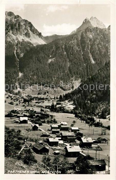 AK / Ansichtskarte Parthenen_Vorarlberg Panorama Parthenen Vorarlberg