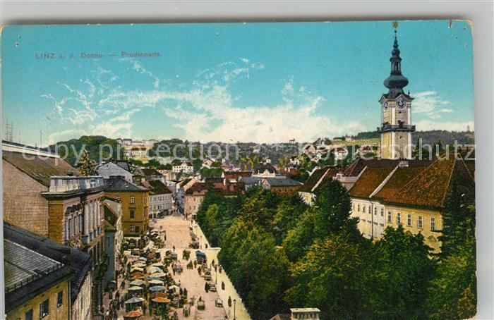 AK / Ansichtskarte Linz_Donau Promenade Linz_Donau