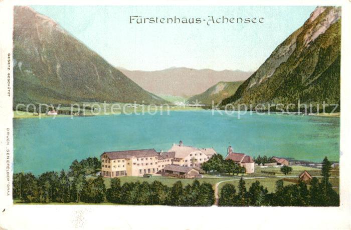 AK / Ansichtskarte Pertisau_Achensee Fuerstenhaus am Achensee Alpenpanorama Pertisau Achensee