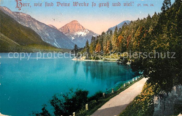 AK / Ansichtskarte Plansee Uferstrasse am See Alpenpanorama Psalm Plansee