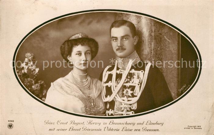 AK / Ansichtskarte Adel_Preussen Prinzessin Viktoria Prinz Ernst August zu Braunschweig und Lueneburg Adel Preussen