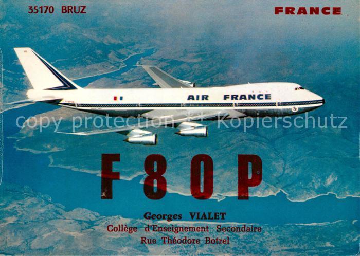 AK / Ansichtskarte Flugzeuge_Zivil Air France Boeing 747  Flugzeuge Zivil