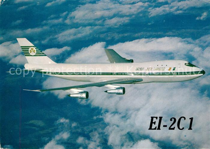 AK / Ansichtskarte Flugzeuge_Zivil Irish Aer Lingus EI 2C1 Boeing 747 Flugzeuge Zivil