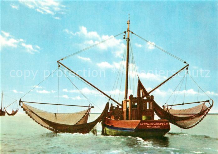 AK / Ansichtskarte Fischerei Krabbenfischer Norderney Fischerei