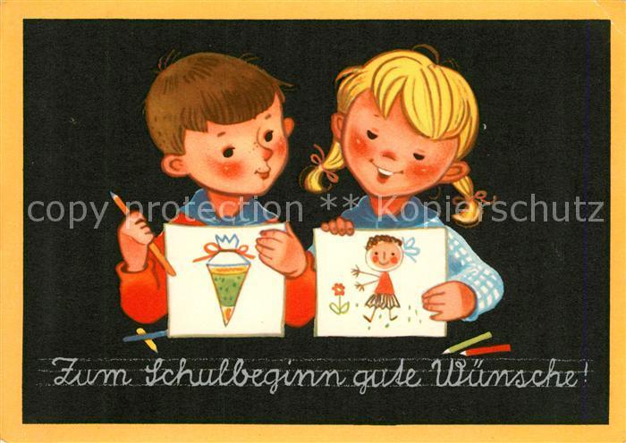AK / Ansichtskarte Schule Schulbeginn Kinder Stifte  Schule