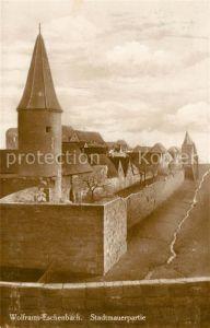 AK / Ansichtskarte Wolframs Eschenbach Stadtmauer Wolframs Eschenbach