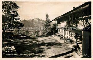 AK / Ansichtskarte Berchtesgaden Alpenwirtschaft Vorderbrand Untersberg Berchtesgaden