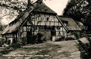 AK / Ansichtskarte Bendestorf Haus Meinsbur Reetdach Bendestorf
