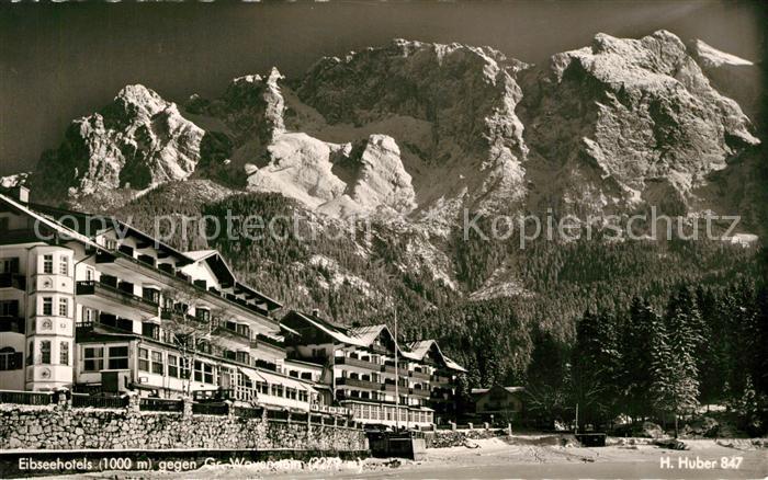 AK / Ansichtskarte Eibsee Eibseehotels mit Gr Waxenstein Eibsee