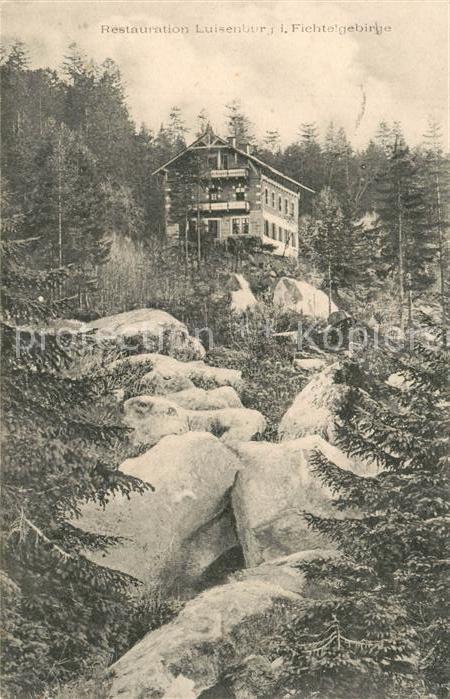 AK / Ansichtskarte Wunsiedel Restauration Luisenburg im Fichtelgebirge Wunsiedel