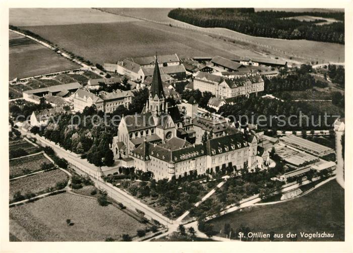 AK / Ansichtskarte St_Ottilien_Eresing Kloster aus der Vogelschau Fliegeraufnahme St_Ottilien_Eresing